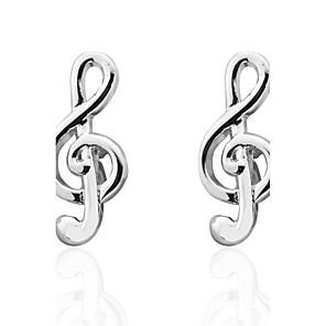 hesapli Kol Düğmeleri-Spinki do mankietów Piano Kostüm takısı Broş Mücevher Gümüş Uyumluluk Düğün Parti / Gece