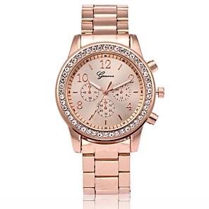ieftine Ceasuri Damă-Bărbați Pentru femei Ceas La Modă Ceas de Mână Diamond Watch Quartz Placat Cu Aur Roz Metal Roz auriu Ceas Casual Analog Lux - Auriu Argintiu Roz auriu Un an Durată de Viaţă Baterie