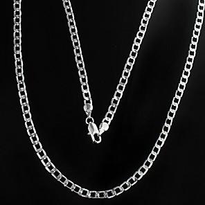 ieftine Coliere-Bărbați Lănțișoare Mariner Chain Aliaj Argintiu Coliere Bijuterii Pentru Cadouri de Crăciun Zilnic