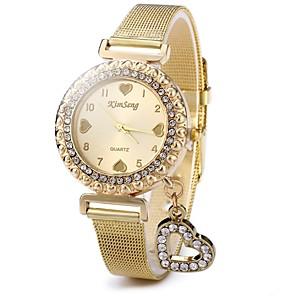 ieftine Cuarț ceasuri-Pentru femei Ceasuri Pave Diamond Watch ceas de aur Quartz Oțel inoxidabil Auriu Ceas Casual Analog femei Sclipici Heart Shape Casual Modă - Auriu