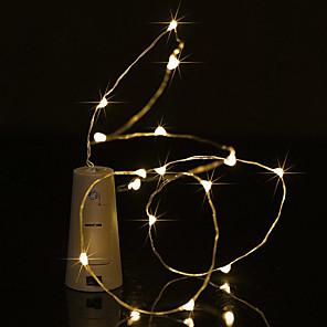 baratos Fitas e Mangueiras de LED-Brelong 1 pc 0.5 m 5led garrafa de vinho luz de fio de cobre<5v luz branca luz branca quente luz azul luz verde luz roxa
