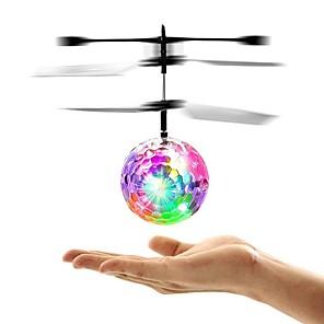 Недорогие Другие радиоуправляемые игрушки-Mini Magic Flying Ball Летающий гаджет Игрушки с подсветкой Летающая игрушка Летательный аппарат Вертолет Космический корабль Пульт управления Сияние в темноте Мигающая LED подсветка Детские Игрушки