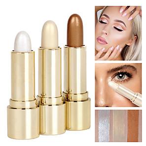 ieftine Produse Fard-3 Culori Anticearcăn Cremă Iluminatoare & Bronz Marker 3 pcs Sclipici Natural Sclipire / Stic Machiaj Cosmetic