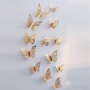 ieftine Acțibilde de Decorațiuni-Animale Perete Postituri Animal Stickers de perete Autocolante de Perete Decorative, Hârtie Pagina de decorare de perete Decal Perete / Frigider Decor 12pcs