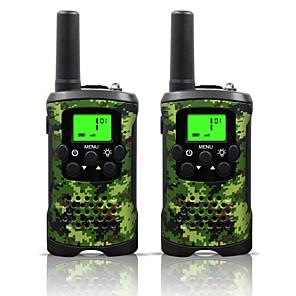 ieftine Walkie Talkies-interfață radio cu două sensuri 22 canal 3 mile lungime copii walkie talkies băieți fete jucării cadouri alimentate cu baterii walky talky cu lanternă pentru camping de aventură în aer liber (camo)
