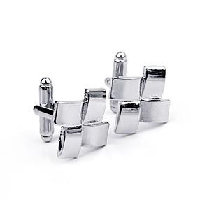 hesapli Kol Düğmeleri-Spinki do mankietów Elbiseler Broş Mücevher Gümüş Uyumluluk Günlük