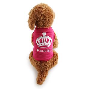 ieftine Imbracaminte & Accesorii Căței-Pisici Câine Tricou Îmbrăcăminte Câini Trandafiriu Costume Terilenă Tiare & Coroane Casul / Zilnic XS S M L