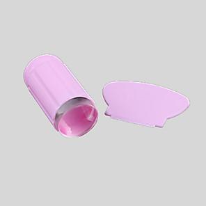 povoljno Šminka i njega noktiju-nail art transparentni silikon nabijač& strugač komplet