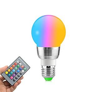 ieftine Becuri LED Glob-1 buc 5 W Bulb LED Glob 400 lm E14 E26 / E27 5 LED-uri de margele SMD Intensitate Luminoasă Reglabilă Telecomandă Decorativ RGBW 85-265 V / RoHs