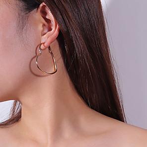 ieftine Cercei-Pentru femei Cercei Picătură Cercei Rotunzi Inimă Dulce cercei Bijuterii Auriu / Argintiu Pentru Dată Stradă