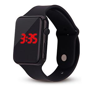 ieftine ceasuri digitale pentru femei-Pentru femei femei Ceas digital Piața de ceas Digital Silicon Negru / Alb / Albastru Cronograf Ceas Casual Cool Piloane de Menținut Carnea Casual Modă minimalist - Negru Alb Mov
