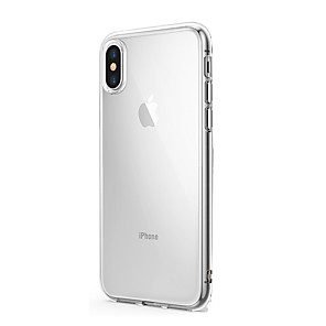ieftine Carcase iPhone-Maska Pentru Apple iPhone X / iPhone 8 Plus / iPhone 8 Ultra subțire / Transparent Capac Spate Mată Moale Silicon