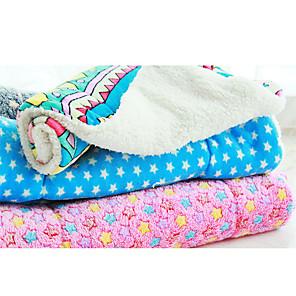 ieftine Câini Articole şi Îngrijire-Pisici Câine Căptușeală saltea Paturi Paturi de pat Animale de Companie  Pături Material Textil Geometric Stele Curcubeu Rosu Albastru