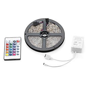 ieftine Aplice de Exterior-5m lumini seturi led 3528 smd 8mm rgb telecomandă / rc / cuttable / dimmable 12 v / ip65 / impermeabil / conectabil / autoadeziv / schimbător de culori