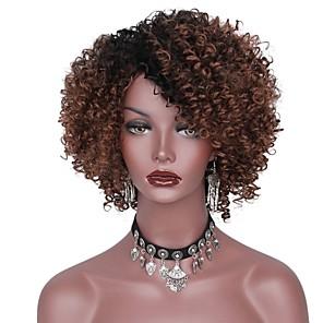 ieftine Peruci & Extensii de Păr-Peruci Sintetice afro afro Frizură în Straturi Perucă Scurt Negru / Maro Gri Păr Sintetic Pentru femei Rădăcini Închise Maro