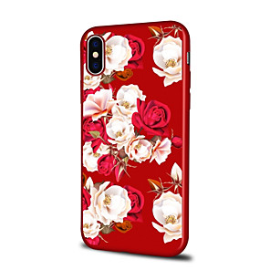 ieftine Carcase iPhone-Maska Pentru Apple iPhone XS / iPhone XR / iPhone XS Max Model Capac Spate Floare Moale TPU