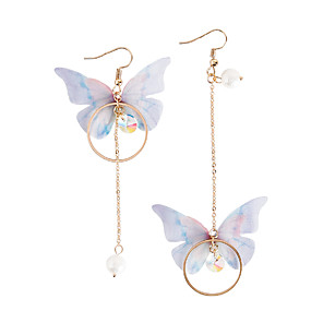 levne Ozdoby do vlasů-Dámské Perla Visací náušnice Neshoda Dlouhé Motýl dámy Módní Napodobenina perel Náušnice Šperky Zlatá Pro Párty