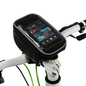 ieftine Genți Cadru Bicicletă-ROSWHEEL Telefon mobil Bag Genți Ghidon Bicicletă 5 inch Ecran tactil Ciclism pentru Samsung Galaxy S6 iPhone 5C iPhone 4/4S Negru Ciclism / Bicicletă / iPhone 8/7/6S/6