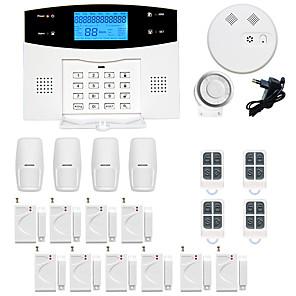 povoljno Sigurnosni senzori-gsm / pstn platforma sms / telefon / kod za učenje 433mhz telefon kućni alarmni sustavi infracrveni detektor daljinski upravljač predajnik sirena detektor dima vrata prozor senzor pokreta senzor
