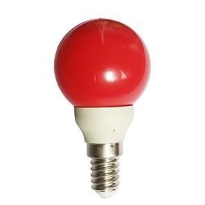 ieftine Becuri LED Glob-1 buc 0.5 W Bulb LED Glob 15-25 lm E14 G45 7 LED-uri de margele Dip LED Decorativ Roșu 100-240 V / RoHs