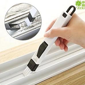 ieftine Produse de curățat-2 în 1 perie de fereastră multifuncțională cu șurub pentru tastatură ecran tastatură sertar garderobă spațiu gol praf îndepărtare perie curățare