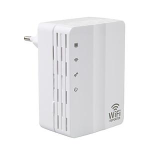 ieftine Câini Gulere, hamuri și Curelușe-wifi repeater de extensie 300Mbps 2.4GHz Wifi Range Extender AD-607U