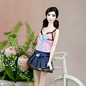 ieftine Haine Păpușă Barbie-Rochie de papusa Costum de păpușă Fusta păpușii Casul / Zilnic Plisat Tul Dantelă Poliester Jucărie făcută manual pentru cadourile de naștere ale fetei / Copii