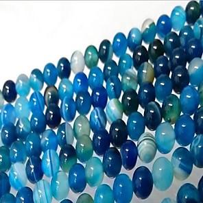 ieftine Kit-uri de Bijuterii-DIY bijuterii 46 buc Χάντρες Agat Albastru Rotund Şirag de mărgele 0.8 cm DIY Coliere Brățări
