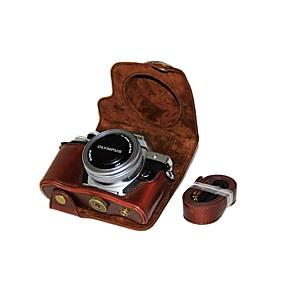 ieftine Produse Fard-dengpin pu pungă de piele cu geantă de cumpărături pentru olympus e-m10 marca iii em10 marca3 (obiectiv de 14-42mm ez (culori asortate)