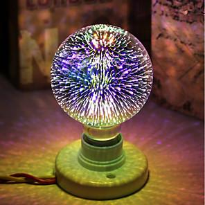 Недорогие Чехол Samsung-1шт 5 W Круглые LED лампы LED лампы накаливания 450 lm E26 / E27 G95 28 Светодиодные бусины Integrate LED Декоративная звездный 3D Фейерверк Multi-цветы 85-265 V / RoHs