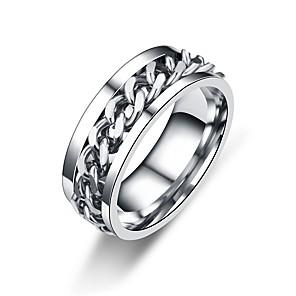 ieftine Gadget-uri De Glume-Bărbați Pentru femei Band Ring Negru Auriu Argintiu Teak Circle Shape Cercul Twist Asiatic Clasic Zilnic Oficial Bijuterii Cercul Twist