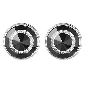 hesapli Kol Düğmeleri-Spinki do mankietów Temel Moda Broş Mücevher Siyah Uyumluluk Günlük Resmi
