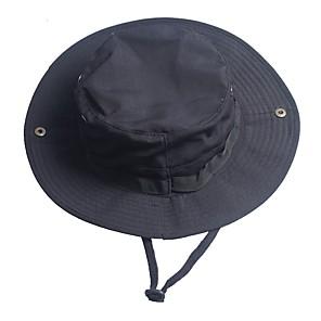 ieftine Pălării, Șepci & Bandane-Bărbați Pentru femei Căciulă Soare Pălărie de pescuit Καπέλο πεζοπορίας Boonie pălărie Vară În aer liber Rezistent la Vânt Rezistent la UV camuflaj Bumbac Negru Camuflaj Verde pentru Vânătoare