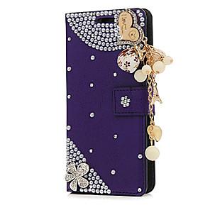 povoljno iPhone maske-Θήκη Za Apple iPhone X / iPhone 8 Plus / iPhone 8 Utor za kartice / Štras / sa stalkom Korice Cvijet Tvrdo PU koža