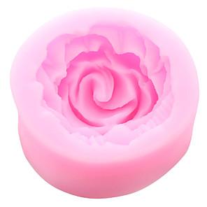 tanie Przybory i gadżety do pieczenia-malutkie narzędzia silikonowe formy cukiernicze z kremowym kwiatem róży
