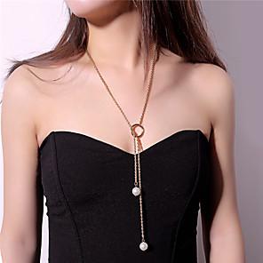 ieftine Colier la Modă-Pentru femei Coliere cu Pandativ Colier lung, Arcan Karma Colier Inimă femei Imitație de Perle Aliaj Auriu Argintiu Coliere Bijuterii Pentru Petrecere Măr