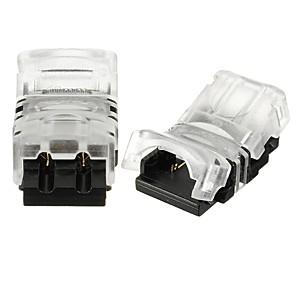 hesapli LED Şerit Aksesuarları-Zdm 2 adet değil 2pin 8mm 10mm tel bağlayıcı-su geçirmez 5050 5730/3528 2835 tek renk led esnek şerit ışık