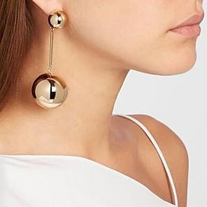 povoljno Naušnice-Žene Viseće naušnice Long dame Europska Naušnice Jewelry Crn / Zlato / Srebro Za Dnevno