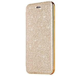 hesapli iPhone Kılıfları-Pouzdro Uyumluluk Apple iPhone X / iPhone 8 Plus / iPhone 8 Kart Tutucu / Kaplama / Flip Tam Kaplama Kılıf Solid Sert PU Deri