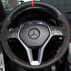 ieftine Faruri de Mașină-Husă Volan Piele autentică 38cm Pentru Mercedes-Benz Clasa E / C Clasa / B200 Toți Anii