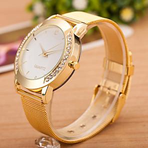 ieftine Ceasuri Damă-Pentru femei Ceas de Mână Quartz Diamond Watch Quartz Oțel inoxidabil Argint Ceas Casual Cool Analog femei Casual Modă - Negru / Argintiu Alb / Argintiu Auriu Un an Durată de Viaţă Baterie