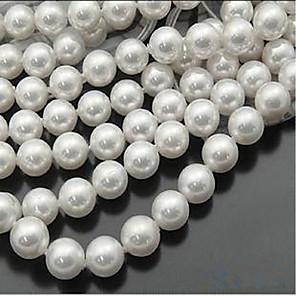 ieftine Kit-uri de Bijuterii-DIY bijuterii 46 buc Χάντρες Imitație de Perle Alb Rotund Şirag de mărgele 0.8 cm DIY Coliere Brățări
