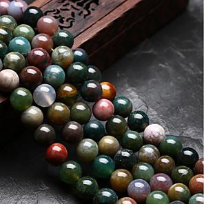 ieftine Kit-uri de Bijuterii-DIY bijuterii 48 buc Χάντρες Agat Curcubeu Rotund Forma U Şirag de mărgele 0.8 cm DIY Coliere Brățări