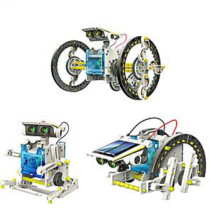 ieftine Microscop & Lupă-14 in 1 GE615 Robot Jucării Încărcate Solar Vehicule Mașină Transformabil Reparații ABS Pentru copii Băieți Fete Jucarii Cadou