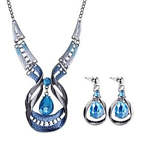 ieftine Seturi de Bijuterii-Pentru femei Seturi de bijuterii Picătură femei Boem European Boho cercei Bijuterii Albastru Pentru Petrecere Serată / Cercei
