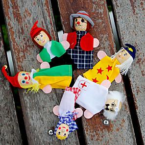 ieftine Păpuși-Păpuși de Degete Păpuși Joacă Drăguț Încântător Pluș 6 pcs Pentru copii Fete Jucarii Cadou