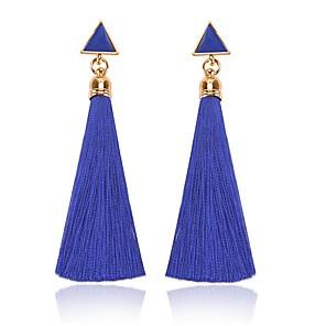 ieftine Brățări-Pentru femei Vișiniu Cercei Picătură Franjuri femei Clasic Ciucure Modă cercei Bijuterii Bleumarin / Rosu Pentru Zilnic