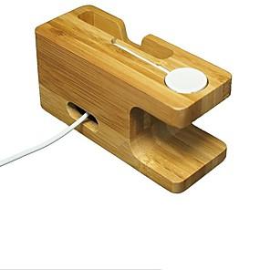 ราคาถูก กล้องส่องทางไกล-Apple Watch ขาตั้งที่มีอะแดปเตอร์ ทำด้วยไม้ Desk