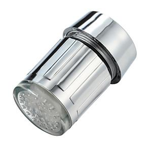 ieftine Robinete-lumina strălucitoare lumină-led condus de apă robinet de duș robinet de apă duza cap ușă bucătărie bucătărie robinete