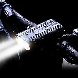 ieftine Lumini de Bicicletă-LED Lumini de Bicicletă Iluminat Bicicletă Față LED Ciclism montan Bicicletă Ciclism Rezistent la apă Rotație 360 ° Moduri multiple Foarte luminos 2400 lm Reîncărcabil USD 18650 Alb Ciclism